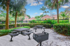 Picnic area with grills   Cypress Shores