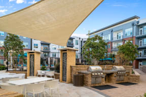 Outdoor patio with grills   Inspire Southpark