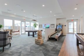game room with skee ball, pool table