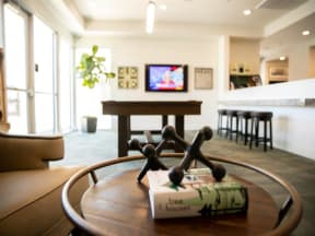 seating and coffee table in clubhouse