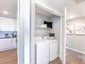 in-home washer and dryer closet