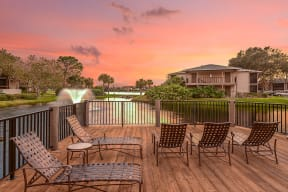 Enjoy gorgeous sunset views from the deck  | Lakes at Suntree