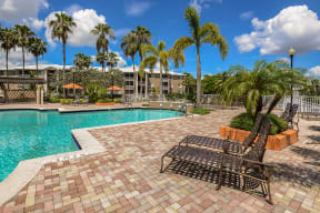 Apartment complex pool | Promenade at Reflection Lakes in Fort Myers