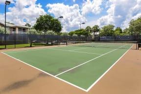 Tennis Court | Promenade at Reflection Lakes apartment amenities