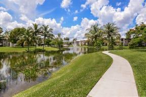 Walking path | Jogging trail | Promenade at Reflection Lakes apartment complex