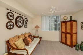 1 bedroom apartment living room | Promenade at Reflection Lakes