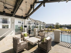Clubhouse outdoor seating |Wharf 7