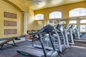 Fitness center with cardio equipment | The Links at High Resort