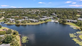Aerial View of the Lakes at Suntree