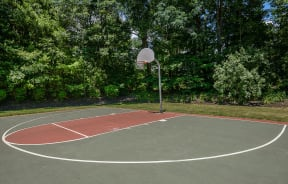 Play a game of pickup on the basketball court  Residences at Westborough