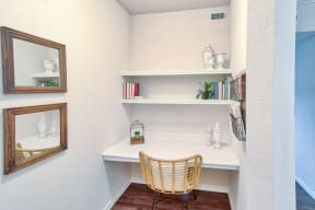 Nook for storage or workspace | Lodge at Lakeline Village