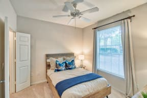 Spacious Bedroom With Comfortable Bed| Lodge at Lakeline Village
