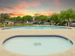 Amenities include a wading pool and swimming pool  Bay Club