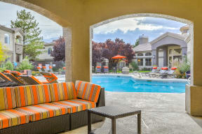 Covered lounge seating   Arterra