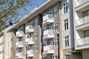 Private balconies   Lofts at Zebulon