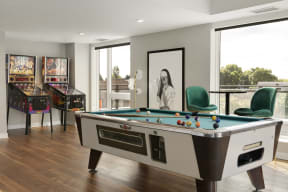 Billards Table in Game Area At Revel Apartments In Minneapolis, MN