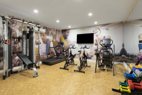 Fitness Center At Revel Apartments In Minneapolis, MN