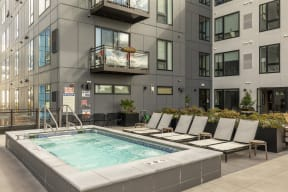 Rooftop Heated Spa At Revel Apartments In Minneapolis, MN