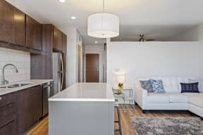 Kitchen Islands In Apartments At Revel In Minneapolis, MN