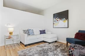 Open Living Room At Revel Apartments In Minneapolis, MN