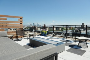 Rooftop Deck Seating At Revel Apartments In Minneapolis, MN