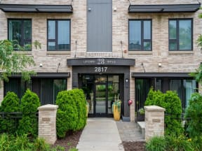 Front Entrance Walkway At Boutique 28 Apartments In Minneapolis, MN