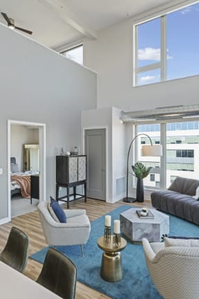 Spacious Living Rooms At Revel Apartments In Minneapolis, MN