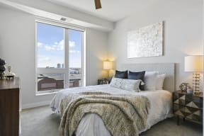 Furnished Penthouse Bedroom At Revel Apartments In Minneapolis, MN