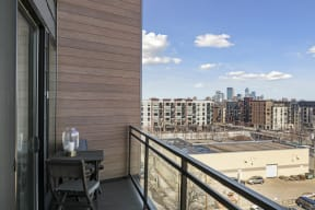 Penthouse Balcony At Revel Apartments In Minneapolis, MN