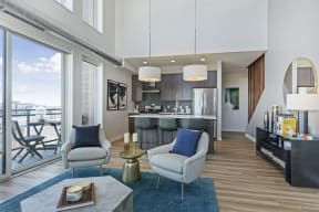 Large Windows And Open Concept Floor Plans At Revel Apartments In Minneapolis, MN