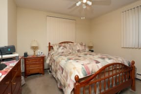 Bedrooms with ample natural light.