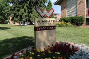 Monument sign, Enjoy our beautifully landscaped grounds.