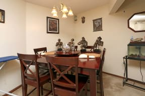 Separate dining areas open up the space.
