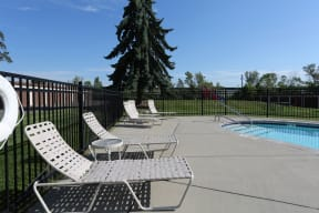 Sundeck provides plenty of lounge seating to soak up the sun by the pool.