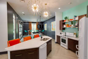 Clubhouse with Kitchen at Shellbrook Apartments in Raleigh NC