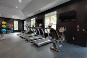 Fitness Room at Shellbrook Apartments in Raleigh NC