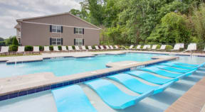 Clubhouse Pool with Lounge Chairs