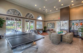 Polo Lakes Clubhouse Seating with Ping Pong Table