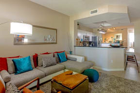 Polo Lakes Model Living Room with Couch