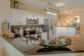 Polo Lakes Model Kitchen with Stainless Steel Appliances