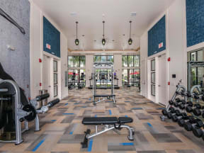 Enormous Coda Orlando fitness center for resident use in Orlando, FL