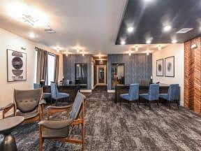 Beautiful leasing office interior of Coda Orlando apartments for rent in Orlando, FL