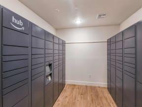 Amazon locker available for convenience of Coda Orlando apartment residents