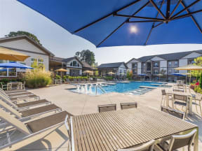 Picturesque One White Oak Pool And Cabana Setting in Cumming Apartments for Rent