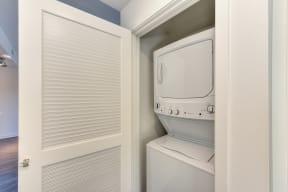 In Unit Washer/Dryer inside White Closet