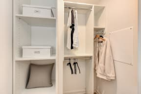 Extended Closets, Shelves, Hangers, Hanging White Shirts