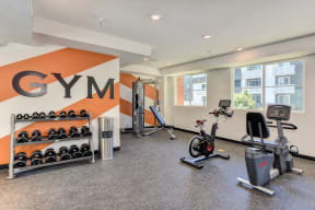 Community Fitness Center with bikes, weight system and free weights