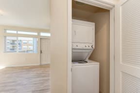 In Unit Washer/Drye, Hardwood Inspired Floors, View of Window