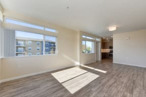 Large Living Room with Hardwood Inspired Floors, View of Window