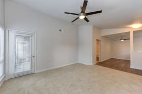 Living Room with Ceiling Fan, Hardwood Inspired Floor and  Ceiling Fan/Light,,